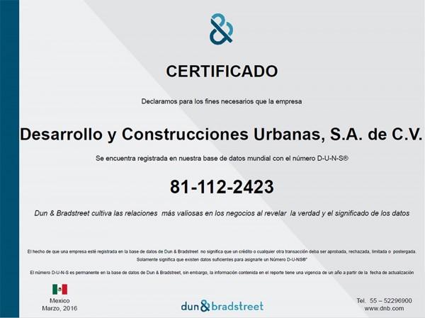 certificado d&b dycusa 2016